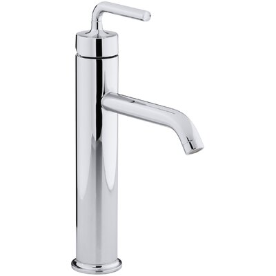 Purist Tall Single-Hole Bathroom Sink Faucet with Straight Lever Handle by Kohler