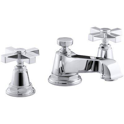 Kohler Pinstripe Pure Widespread Bathroom Sink Faucet With Cross Handles