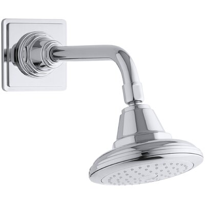 Pinstripe 2.5 GPM Single-Function Wall-Mount Shower Head Katalyst Air-Induction Spray Product Photo