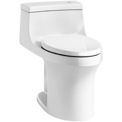 San Souci Comfort Height 1 Piece Compact Elongated 1.28 GPF Touchless Toilet with Aquapiston ...