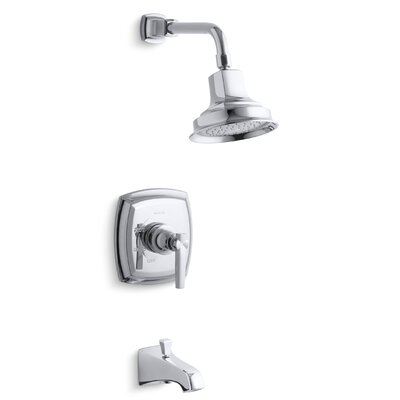 Margaux Rite Temp Pressure Balancing Bath and Shower Faucet Trim with Lever Handle, Valve Not Included Product Photo