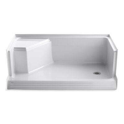 "Memoirs 60"" x 36"" Single Threshold Right-Hand Drain Shower Base with Integral Seat At Left Product Photo"