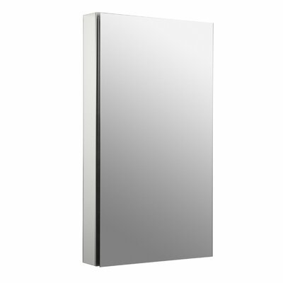 "Catalan 20-1/8"" W x 36"" H Aluminum Single-Door Medicine Cabinet with 107 Degree Hinge Product Photo"