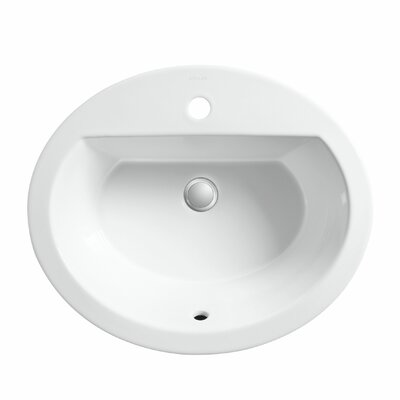 Bryant Oval Drop-In Bathroom Sink with Single Faucet Hole Product Photo