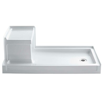 "Tresham 60"" x 32"" Single Threshold Right-Hand Drain Shower Base with Integral Left-Hand Seat Product Photo"