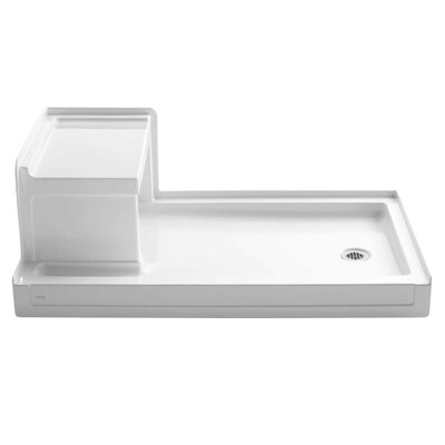 "Tresham 60"" x 36"" Single Threshold Right-Hand Drain Shower Base with Integral Left-Hand Seat Product Photo"
