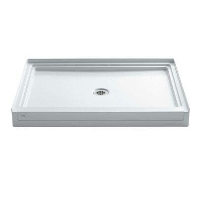 "Tresham 48"" x 36"" Single Threshold Center Drain Shower Base Product Photo"