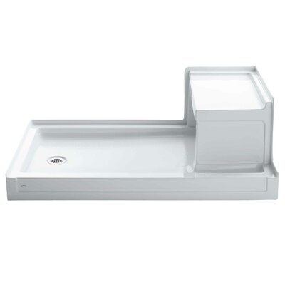 "Tresham 60"" x 36"" Single Threshold Left-Hand Drain Shower Base with Integral Right-Hand Seat Product Photo"