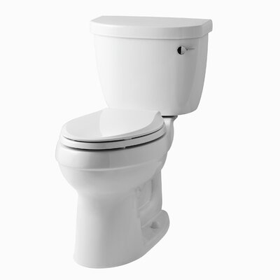 Cimarron Comfort Height Two-Piece Elongated 1.6 GPF Toilet with Aquapiston Flush Technology, Right-Hand Trip Lever an... Product Photo