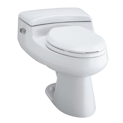 San Raphael Comfort Height One-Piece Elongated 1.0 GPF Toilet with Pressure Lite Flush Technology and Left-Hand Trip ... Product Photo