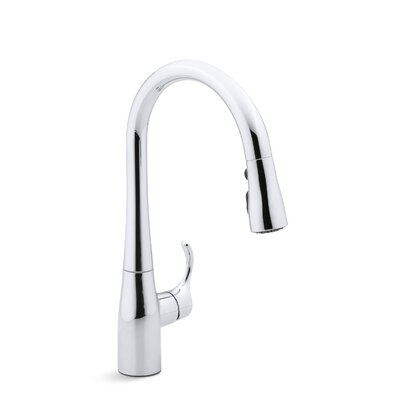 """Simplice Single-Hole or Three-Hole Kitchen Sink Faucet with 15-3/8"""" Pull-Down Spout, Docknetik Magnetic Docking Syste... Product Photo"""