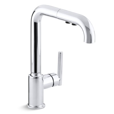 "Purist Single-Hole Kitchen Sink Faucet with 8"" Pullout Spout Product Photo"