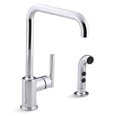 Purist Two-Hole Kitchen Sink Faucet with 8