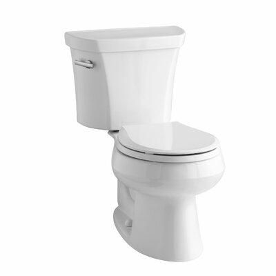 Wellworth Two-Piece Round-Front 1.28 GPF Toilet with Class Five Flush Technology, Left-Hand Trip Lever and Insuliner ... Product Photo