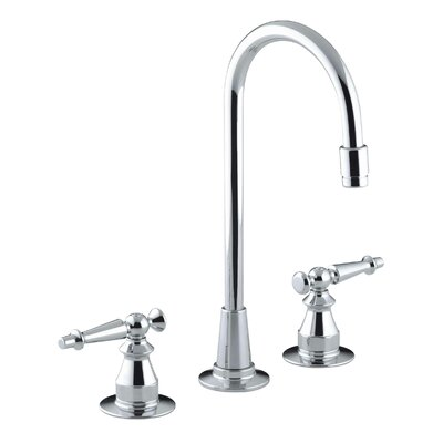Antique Three-Hole Bar Sink Faucet with Lever Handles by Kohler