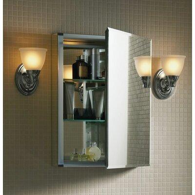 """Kohler 20"""" x 26"""" Aluminum Medicine Cabinet with Mirrored Door"""