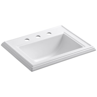 "Memoirs Classic Drop-In Bathroom Sink with 8"" Widespread Faucet Holes Product Photo"