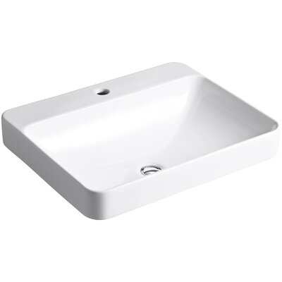 Vox Rectangle Vessel Above Counter Bathroom Sink with Single Faucet Hole Product Photo