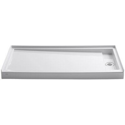 """Groove 60"""" x 32"""" Single Threshold Right-Hand Drain Shower Base Product Photo"""