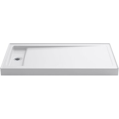 "Bellwether 60"" x 32"" Single-Threshold Shower Base with Left Offset Drain Product Photo"