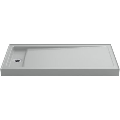 "Bellwether 60"" x 32"" Single-Threshold Shower Base with Left Center Drain Product Photo"