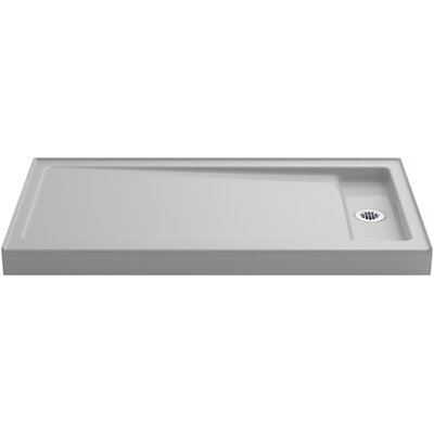 """Bellwether 60"""" x 32"""" Single-Threshold Shower Base with Right Offset Drain Product Photo"""