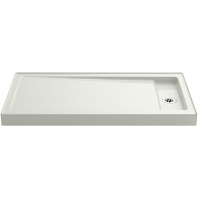 """Bellwether 60"""" x 32"""" Single-Threshold Shower Base with Right Center Drain Product Photo"""