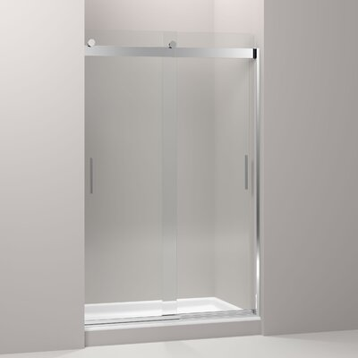 "Levity 74"" x 47.63"" Sliding Shower Door with Blade Handles Product Photo"
