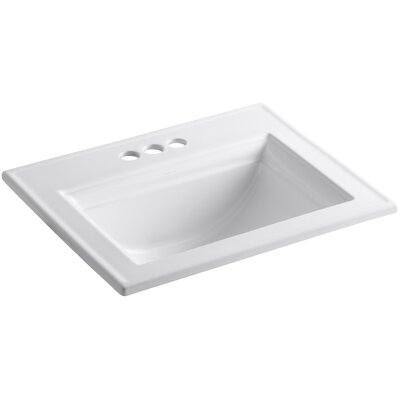 "Memoirs Stately Drop-In Bathroom Sink with 4"" Centerset Faucet Holes Product Photo"