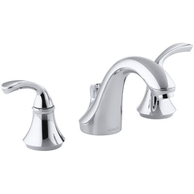 Forté Widespread Commercial Bathroom Sink Faucet with Sculpted Lever Handles, Metal Drain, Red/Blue Indexing and Van... Product Photo