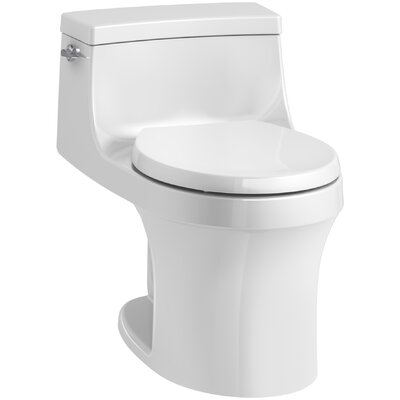 San Souci 1 Piece Round-Front 1.28 GPF Toilet with Aquapiston Flushing Technology Product Photo