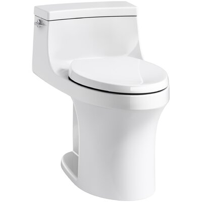San Souci Comfort Height One-Piece Compact Elongated 1.28 GPF Toilet with Aquapiston Flushing Technology and Left-Han... Product Photo