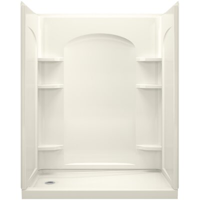 """Ensemble 32"""" x 60"""" x 76.5"""" Shower Wall with Age in Place Backers Product Photo"""