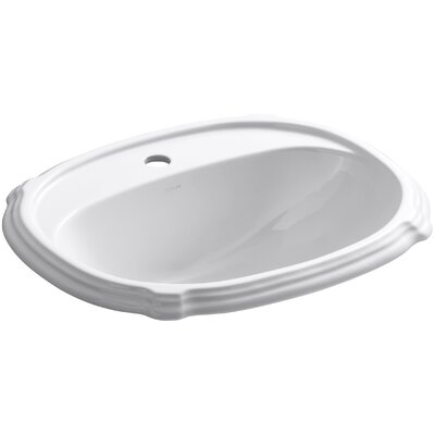 Portrait Drop-In Bathroom Sink with Single Faucet Hole by Kohler
