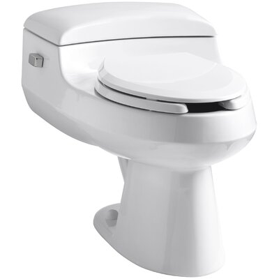 Kohler San Raphael Comfort Height One-Piece Elongated 1.0 GPF Toilet with Pressure Lite Flushing Technology, Includes Seat