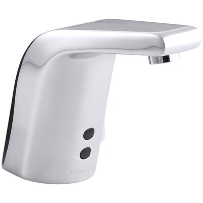 """Kohler Sculpted Single-Hole Touchless Hybrid Energy Cell-Powered Commercial Bathroom Sink Faucet with Insight Technology, Temperature Mixer and 5-3/4"""" Spout"""