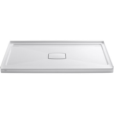 """Archer 60"""" x 36"""" Single Threshold Center Drain Shower Base with Removable Cover Product Photo"""