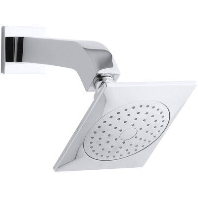 Kohler Loure 2.5 GPM Single-Function Shower Head with Katalyst Air-Induction Spray, Arm and Flange