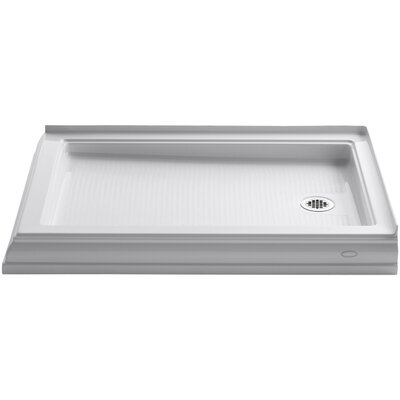 """Memoirs 48"""" x 34"""" Double Threshold Right-Hand Drain Shower Base Product Photo"""