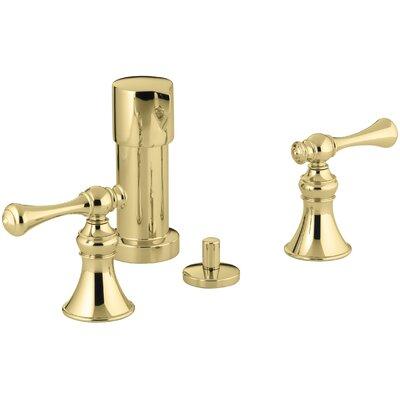 Kohler Revival Vertical Spray Bidet Faucet with Traditional Lever Handles