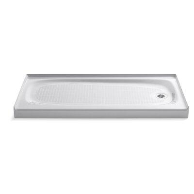 "Salient 60"" x 30"" Single Threshold Right-Hand Drain Shower Base Product Photo"