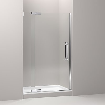 "Pinstripe 72.25"" x 47.75"" Pivot Shower Door Product Photo"