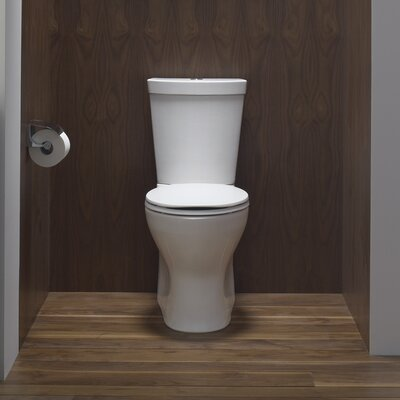 Persuade Skirted Two-Piece Elongated Dual-Flush Toilet with Top Actuator Product Photo