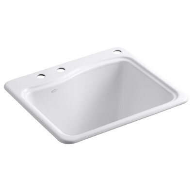 River Falls Top-Mount Utility Sink with 3 Faucet Holes - 2-Holes On Deck On The ...