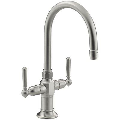 Hirisesingle-Hole Bar Sink Faucet with Lever Handles by Kohler