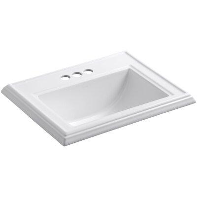 Kohler Memoirs Classic Drop-In Bathroom Sink with 4