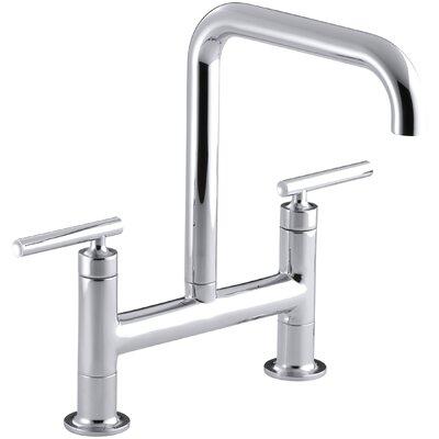 Purist Two-Hole Deck-Mount Bridge Kitchen Sink Faucet by Kohler