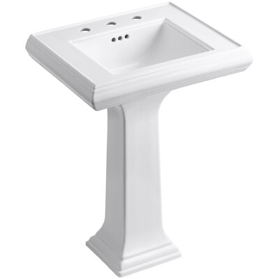 "Memoirs Classic 24"" Pedestal Bathroom Sink with 8"" Widespread Faucet Holes Product Photo"