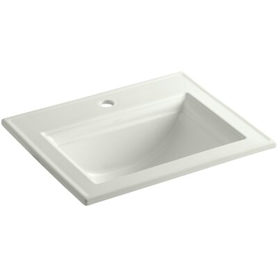 Kohler Memoirs Stately Drop-In Bathroom Sink with Single Faucet Hole