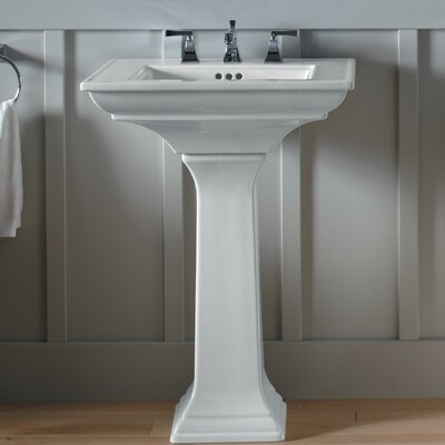 "Memoirs Stately 24"" Pedestal Bathroom Sink with 8"" Widespread Faucet Holes Product Photo"
